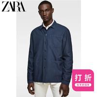ZARA 新款 男装 秋冬折扣 水洗纹理衬衫外套 06887300401