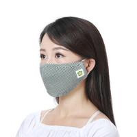 绿驰口罩 男女士防尘活性炭过滤PM2.5颗粒物甲醛雾霾粉尘尾气异味 耳戴折叠式全棉保暖可清洗口罩精装 *3件