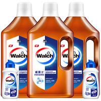 威露士衣物家居多用途洗衣除菌消毒液1L*3+威露士手洗洗衣液90ml*2 *2件