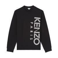 KENZO 高田贤三 F965SW1324MD-99 男士LOGO印花圆领长袖卫衣运动衫 黑色 XL