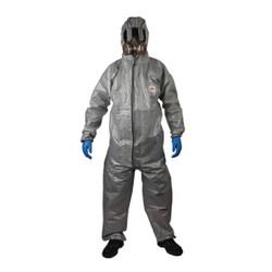 3M 4570 灰色带帽连体防化服