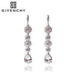 Givenchy/纪梵希 奢华系列闪耀 施华洛世奇人造水晶银色长款女士耳坠 60461118