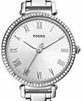 Fossil 女士指针石英手表不锈钢表链 ES4448