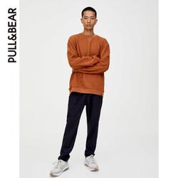 PULL&BEAR 新款男士卫衣绗缝设计运动衫套头衫 09596505