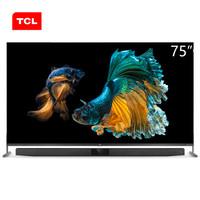 TCL 75X9 75英寸超清8K QLED全场景AI 4 32G高配置全面屏人工智能电视机