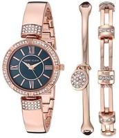 Anne Klein 安妮·克莱恩 AK/3294NRST 施华洛世奇水晶 女士手镯手表套装