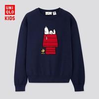 童装/男童/女童 (UT) PEANUTS圆领针织衫(长袖) 420497 优衣库