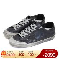 GOLDEN GOOSE G34MS590.N38 男士黑色牛皮运动鞋