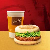 McDonald's 麦当劳 火腿扒麦满分组合 早餐3次券