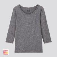 童装/男童/女童 HEATTECH U领T恤(九分袖)(温暖内衣) 420490