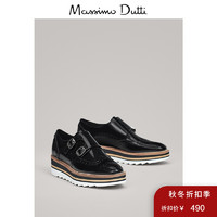 Massimo Dutti 11880021800 女鞋 2019秋冬新款针扣休闲厚底鞋