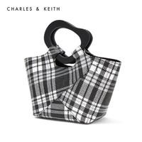 CHARLES&KEITH CK2-30270319 不规则手柄饰女士单肩手提包