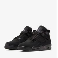 NIKE 耐克 AIR JORDAN 4 black cat 男子籃球鞋