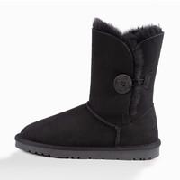 Ozwear UGG 女士澳洲羊毛皮雪地靴 黑色 37码