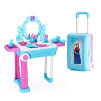 Disney 迪士尼 儿童过家家玩具 冰雪梳妆手提拉箱