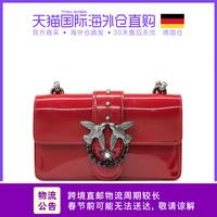 德国直邮 Pinko品高红色纯色漆皮女士mini手提包燕子包