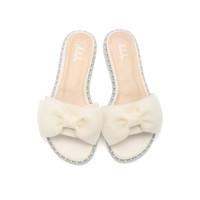 鞋柜 杜拉拉舒适平跟凉鞋女 米白 39 *6件