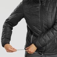 迪卡侬 TREK 100 女式户外连帽保暖填充夹克