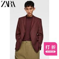 ZARA新款 男装 纹理套装西装外套00706374606
