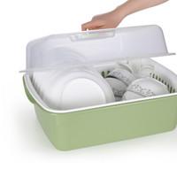FaSoLa 沥水碗架 碗碟收纳架 绿色 *3件