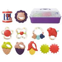 纽乐  婴儿牙胶摇铃玩具  4件套装