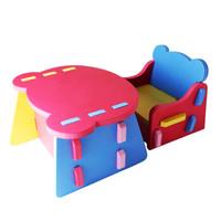 Meitoku 明德 儿童拼接PE塑料小桌椅套装 *3件