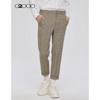 G2000 AT TWENTY男装西裤 2019新款威尔斯格纹复古休闲西装裤91851001 卡其色/16 28/165