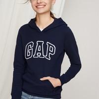 Gap/盖璞 女装 Logo徽标基本款长袖连帽卫衣