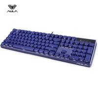 狼蛛(AULA)G908侧刻机械键盘 蓝色白光版 黑轴