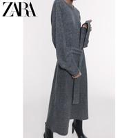 ZARA 新款 女装 配腰带柔软触感连衣裙 05644024803