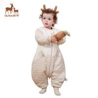 欧孕(OUYUN)  婴儿睡袋春秋宝宝分腿睡袋儿童防踢被五彩兔子双层M码 *2件