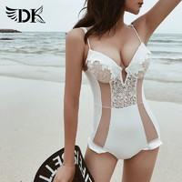 DK 性感 WY1842 连体女游泳衣