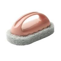 秀净 带手柄浴缸刷浴室瓷砖刷厨房去污清洁刷洗锅魔力海绵擦清洁刷1个装颜色随机 *2件