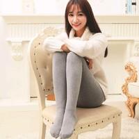韩梦儿 H0273 女士薄绒连裤袜 踩脚款 多色可选