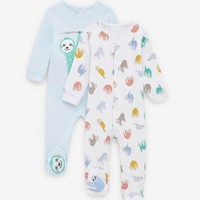 ZARA  03339583400 婴儿动物印花睡衣套装
