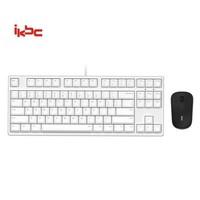 ikbc C87 有线键鼠套装 W2无线鼠标 白色 茶轴+凑单品