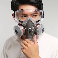 防毒口罩 双罐防毒 送4片滤棉和2副耳塞