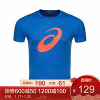 ASICS亚瑟士 速干男式跑步短袖T恤2011A595-001 蓝色 XXL *5件