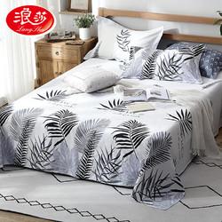 浪莎全棉床单单件纯棉布加厚单人双人学生宿舍床单1.5m1.8米简约