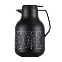 富光保温壶 欧风系列欧式家用保温水壶大容量玻璃内胆暖壶水壶 黑色 1500ml