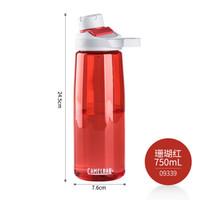驼峰(CAMELBAK) 美国户外运动水壶大容量水杯塑料水瓶 09339珊瑚红750ml