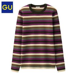 GU 极优 320611 女装条纹针织衫