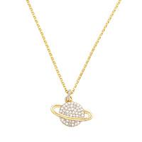APM MONACO 女士925银锆石土星吊坠项链 AC3917OXY