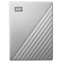 WD 西部数据 My Passport Ultra 新款Type-C接口 2.5英寸移动硬盘 4TB  银色