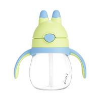 膳魔师THERMOS 母婴幼儿童夏季兔子杯吸管杯 带手柄 宝宝学饮杯 防漏水杯 270ml BBSC-243 BG *3件