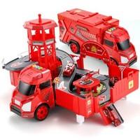 育儿宝(YuErBao)儿童玩具可变形停车场套装660-A214 *3件