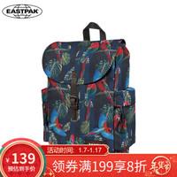 EASTPAK新款 休闲学院风电脑层双肩背包 包盖式时尚街头潮流学生书包 鹦鹉印花EK47B05N