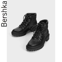 Bershka 15058031040 女士机车马丁靴