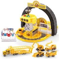 育儿宝(YuErBao)儿童玩具车轮胎停车场 男孩小汽车模型套装660-A228工程 *3件