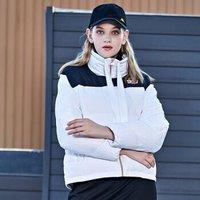 Kappa卡帕女款羽绒服冬季加厚高领防寒服保暖外套 2019新款K0962YY79D 漂白-001 S